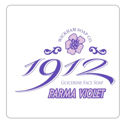 1912 face soap parma violet