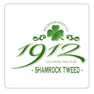 1912 face soap shamrock tweed