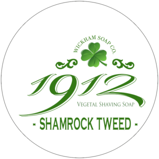 1912 shave soap shamrock tweed