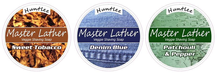 Huntlee Master Lather Luxury Shaving Soap label design