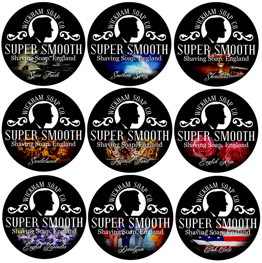 Wickham Soap Co. Super Smooth Shave Soap Label Design