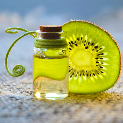 Photo of natural kiwi and oil by Marina Pershina